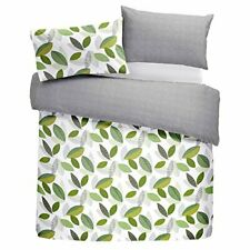 Fusion Printed Quilt Duvet Cover Set Bedding Tazio Green Double Size 200 X 200cm