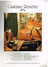 Publicité Advertising 1993 Maroquinerie Sac à main Bagage Gastinne Renette