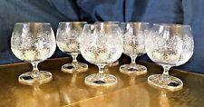 Crystal Glass Cognac Whiskey Brandy Goblet 8 oz Set of 6 Bohemia  Hand Cut ,Gift