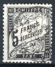 "FRANCE STAMP TIMBRE TAXE N° 24  "" TYPE DUVAL 5F NOIR "" OBLITERE TB A VOIR  P209"
