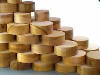 Tulipwood (Poplar) wood turning bowl blanks. 50mm thick. Planed & Centre marked