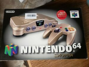 **NEW** Nintendo 64 Console Gold Complete N64 Japan NEW NEW, RARE!🔥🔥🔥