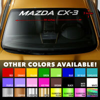 """38""""x3"""" Premium Windshield Banner Vinyl Decal Sticker for Mazda CX-3 SUV Skyactiv"""
