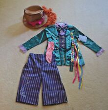 NWT Disney Store Mad Hatter Alice costume lot hat/outfit - Halloween NEW! 5/6
