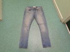 "Topman Moto Skinny Jeans Waist 34"" Leg 32"" Faded Medium Blue Mens Jeans"