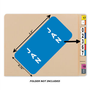 Bar Tab Labels 270 Color Coded Bar-Style Labels For File Folder End Tabs - Month