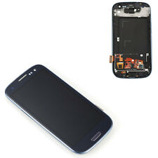 Blue For Samsung Galaxy S3 I9300 LCD Display Digitizer Touch Screen Glass &Frame