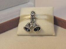 New w/Box Pandora Sterling Silver Bells Dangle Charm 791230 Christmas Wedding