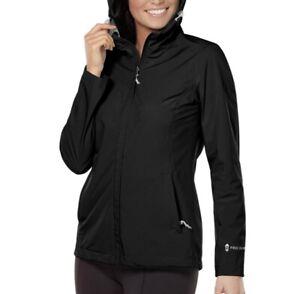 Free Country Ladies Waterproof Rain Jacket Black Sz Medium NEW