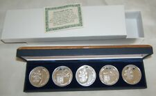 1974 ISRAEL 5 PIDYON HABEN PROOF COINS SET+GIFT BOX+CERTIFICATE 117g PURE SILVER