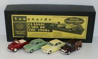 VANGUARDS 1/43 CC2004 CLASSIC CARS OF THE 60'S VW / 105E / HERALD / MORRIS