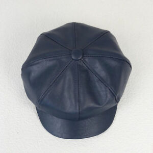 Fashion Womens Lady Soft Leather Octagonal Peak Baggy Hat Cap Warm French Beret