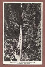 Vancouver, Canada, Capilano Bridge, 1942, Mr & Mrs Mullett, West Wickham  RK296