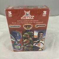 Jetix 3 Dvd Bundle Box Set Sealed Transformers Ninja Turtles Action Man Episodes
