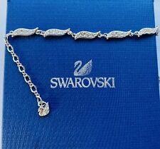 Genuine Swarovski Crystal Silver Bracelet In Box