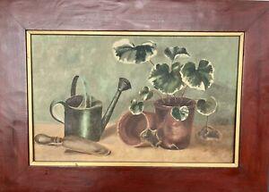 Painting, Original 'Garden Scene' Over 100 Years Old (1906), Artist..??
