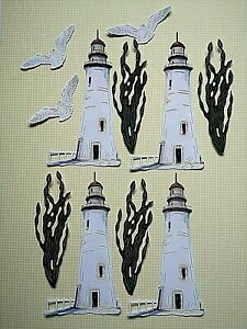 New: x Tattered Lace : 12 Pieces x Lighthouse & Corresponding Die Cuts