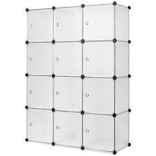 Regalsystem 12 Boxen Steckregal Garderobe Schuhregal Kleiderschrank DIY Schrank