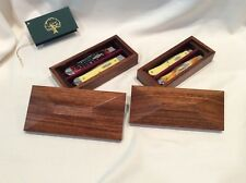 Case Knife wooden display box set in exotic Jatoba Wood - Hayden's Woodshop