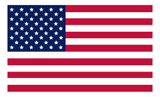 "American Flag Vinyl Car Sticker Decal 6"" x 3.7"" MADE IN USA Buy 2 Get 3rd Free"