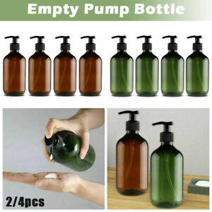 Lotion Shampoo Shower Gel Soap Dispenser Refillable Empty Pump Bottles 300/500ml