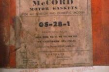 VALVE GRIND GASKET SET; 1953-55 HILLMAN MINX, MK VI, VII; VIII, ETC.  # GS-28-1