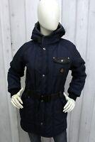 REFRIGIWEAR Donna Taglia L Giubbotto Blu Giubbino Parka Jacket Coat Woman