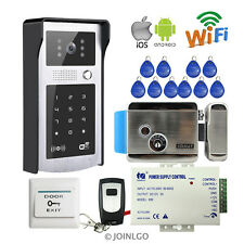 Wireless Wifi Keypad Video Intercom Door Phone Waterproof Doorbell Electric Lock