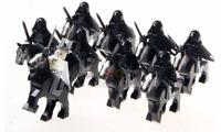 18PCS Lord Of The Rings King Return Mordor Ringwraith+Horse Building Blocks Toys