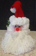 Santa Felt And Yarn Bottle Gift Cover - Brand New