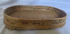 "Wicker Bamboo Woven Craft Storage Oval Basket 15.5"" X 10.5"""