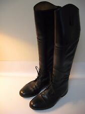 E. Vogel Euro Field Tall Black Leather Equestrian Dressage Riding Boots - US 10