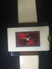 majestic watch Triangle Case, Red Face Gold Dial, Shock Resistant Swiss,