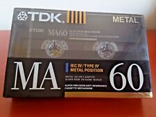 Cassette Tape Blank - 1x (ONE) TDK Ma 60 1990-92 metal Made in Germany