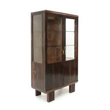 Vetrina in legno con ripiani in vetro anni 30, showcase, italian design