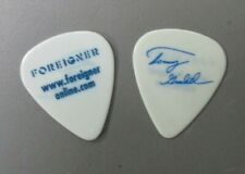 Foreigner guitar pick Touring Pick Tommy signature see thru white Authentic !