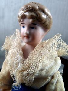 "RARE Antique 1890s German Kestner 5"" LADY DOLL Victorian 1:12 Dollhouse Size"