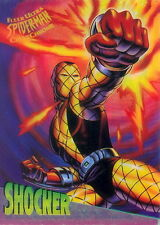 SPIDER-MAN 1995 FLEER ULTRA CLEARCHROME INSERT CARD 8 OF 10 SHOCKER MA