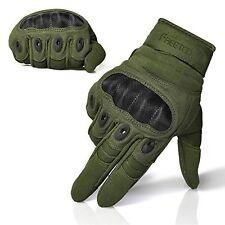 FREETOO? Adjustable Mens Tactical Gloves Hard Knuckle Sewn-in Brass Knuckles M
