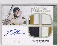 2007-08 OPC Premier Gold Spectrum #156 Tobias Stephan Jersey Autograph RC 2/15