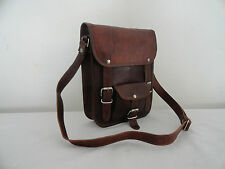 "9x11"" Vintage Leather Cross Body Messenger Bag Handmade Satchel Tab/iPad Bag"