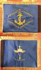 FANION souvenir brodé 6ème BCCP-Colonial Commandos Coloniale parachutiste tdm