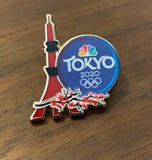 NBC Tokyo 2020 Cherry Blossom Tokyo Tower Olympic Media Pin