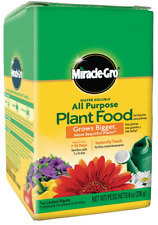 Miracle Gro Grow Flowers Plant Food Fertilizer Vegetable Garden Water Soluble