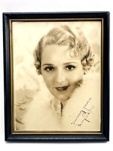 Mary Pickford - Vintage Signed Sepia Photo - Circa 1930's - Autograph