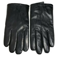 Nordstrom Mens Shop Leather Gloves S/M Touchscreen Fleece Lined Black New