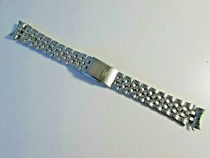 JAPAN GENUINE NEW SEIKO STAINLESS STEEL WATCH BRACELET WITH CURWED END 18MM