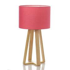 Lampada Rosa piede in legno Luci per tavolo Decorazione Illuminazione H 47,5