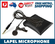 Lapel Microphone 3.5mm Jack Clip-On Public Speaking Podcast Laptop Skype Record