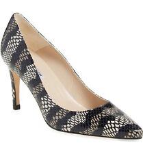 L.k. Bennett Floret Pump Snake Print Leather Shoe Heel 38.5 Pointy Toe